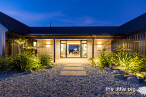 exterior view with lighting nz