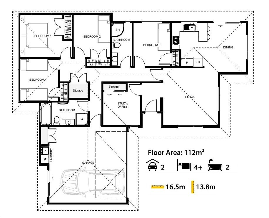 Floor Plans for the Arlington House Design