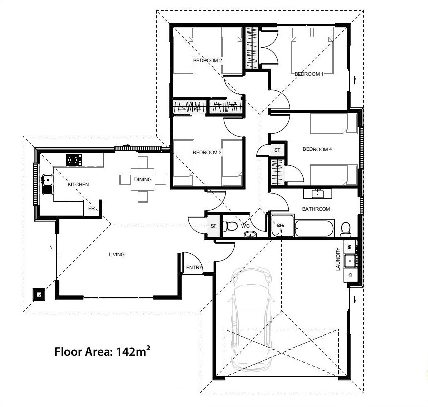 The floor plans for the Chandler House