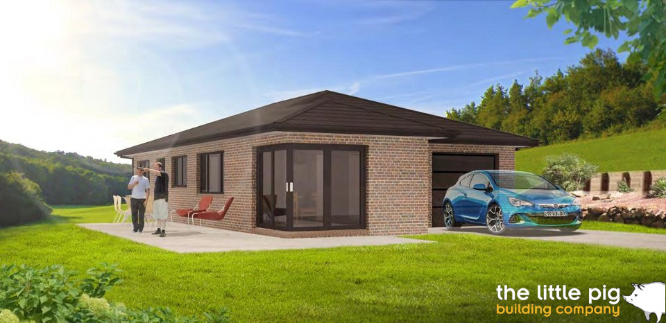 A 3D rendering of the Dayton house design