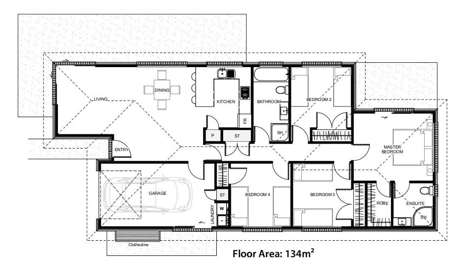 Floor plans for the Dayton House Design
