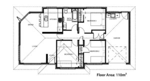 The Floor Plans for the Denton House