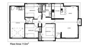 Floor plans for the Miramar House from The Little Pig Building Company