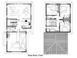Floor plans for Orlando House from The Little Pig Building Company