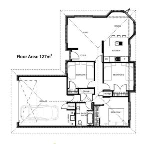 Floor plans for the Torrance House