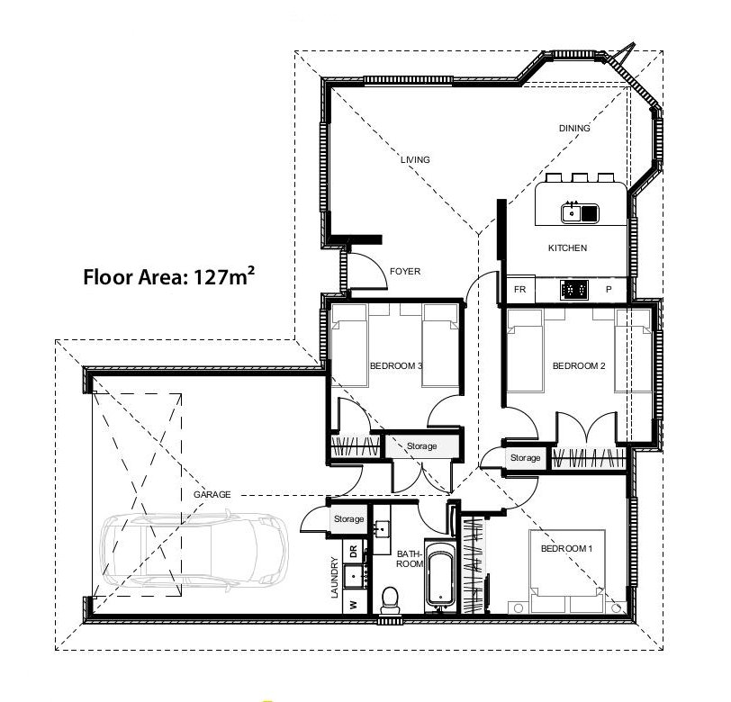 Floor plans for the Torrance House