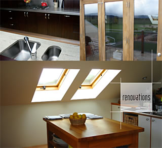 A collage of beautiful renovations completed by the Little Pig Building company, Nelson, New Zealand
