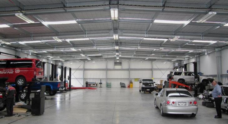 A Formsteel vehicle workshop