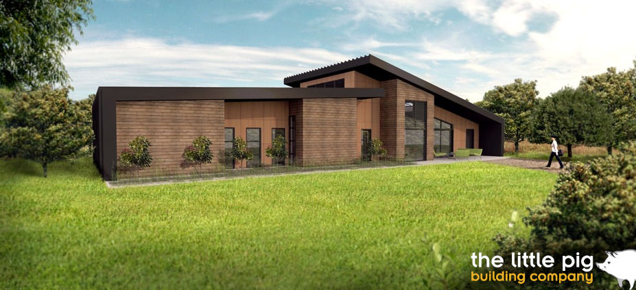 Weston house plan - 3D render